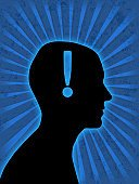 Human Head,Silhouette,Profile View,Human Brain,Learning,Symbol,Business,Men,People,Contemplation,Success,Ideas,Businessman,Innovation,Exclamation Point,Solution,Creativity,Abstract,Male,Finance,Inspiration,Advice,Ilustration,Problems,Blue,Imagination,Clip Art,Intelligence,The Way Forward,Isolated,Black Color,Thinking,Isolated Objects,Planning,Illustrations And Vector Art,Concentration,Screaming,Grunge