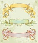 Old-fashioned,Retro Revival,Label,Banner,Ribbon,Rosé,Scroll Shape,Old,Springtime,Vector,Drawing - Art Product,Textured,Grunge,Ilustration,Horizontal,Design Element,Spray,Curled Up,Yellow,Isolated,Weathered,hand drawn
