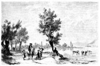 Engraved Image,Landscape,Ilustration,Antique,Switzerland,Horse,Cow,Old,Black And White,Lake,Old-fashioned,Drawing - Art Product,Non-Urban Scene,19th Century Style,Monochrome,Farm Worker,Germany,Image Created 19th Century,Livestock,Cattle,Water,Road,Europe,Rural Scene,Scenics,Cultures,European Culture,Child,German Culture,The Past,Outdoors,Austria,Country Road,Family,History,Social History,Bodensee,Water's Edge,Riding,Swiss Culture,Image Created 1870-1879,Austrian Culture,Pony