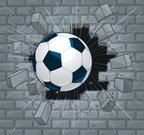 Exploding,Wall,Soccer,Brick,Breaking,Ball,Broken,Demolished,Rock - Object,Cracked,Concrete,Demolishing,Speed,Stone Material,Three-dimensional Shape,Accident,Team Sports,Sports And Fitness