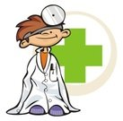 Doctor,Child,Healthcare And Medicine,Baby,Humor,Ilustration,Red Cross,Stethoscope,Care,Vector,Playing,Smiling,Medical Instrument,Professional Occupation,Mischief,Fun,Happiness,Expertise,Imitation,Cheerful,Leisure Games,Lab Coat,Skill,Carefree,Medicine And Science,Excess,Content,Isolated On White,family practitioner,Isolated Objects,Babies And Children,Lifestyle,Confidence,health care professional,Medical