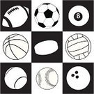 Rugby,Baseballs,Black And White,Ball,Basketball,Football,Volleyball,Soccer,Bowling,Sports League,Symbol,Ice Hockey,Sport,Icon Set,Vector,Pool Game,Tennis,Ilustration,Sports And Fitness,Sports Symbols/Metaphors,Illustrations And Vector Art,Ten Pin Bowling,Team Sport,Recreational Pursuit,Equipment