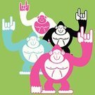 Monkey,Cool,King Kong,Ape,Orangutan,Rock and Roll,Cartoon,Sign Language,Symbol,Animal,Pattern,Characters,Sign,Outline,Hip Hop,Humor,Love,Computer Icon,Black Color,Ilustration,Hip Hop,Drawing - Art Product,I Love You,Emoticon,White,Looking,Friendship,Smiling,Animal Hand,Greeting,Design,Line Art,Hand Sign,Gesturing,Animals In The Wild,Carefree,New,Ideas,Male Animal,Happiness,Pink Color,Cheerful,Manga Style,Protection,Creativity,Concepts,Animal Finger,Fashion,Fun,Elegance,Black And White,Imagination,Emotion,Inspiration,Animals And Pets,Holidays And Celebrations,Wildlife,Environmental Conservation,Wildlife Reserve,Style,Blue,Excitement,Ecstatic,Facial Expression,Design Element,Standing,Attitude,Motivation,Concepts And Ideas,Modern,Energy,Aspirations,Positive Emotion
