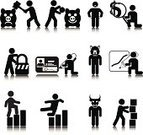Stick Figure,Symbol,Poverty,People,Bankruptcy,Risk,Icon Set,Finance,Breaking,Falling,Credit Card,Vector,Piggy Bank,Simplicity,Success,Identity,Failure,Savings,Dollar,Security,Concepts,Ilustration,Graph,Bear Market,Design Element,People,Magnifying Glass,Business,Information Symbol,Bull Market,Concepts And Ideas,Moving Up