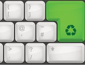 Computer Keyboard,Computer,Recycling,Push Button,Interface Icons,Computer Key,Recycling Symbol,Symbol,Vector,Close-up,Ideas,Illustrations And Vector Art,Isolated Objects,Concepts And Ideas,Computer Icon,No People,Copy Space,Concepts