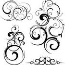 Swirl,Pattern,Scroll Shape,Ornate,Design,Vector,Decoration,Symbol,Elegance,Calligraphy,Curled Up,Leaf,Intricacy,Old-fashioned,Floral Pattern,Ilustration,Style,Backgrounds,White Background,Color Image,Victorian Style,No People,Digitally Generated Image,Growth,Colors