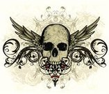 Human Skull,Tattoo,Wing,Dirty,Design,Pattern,Grunge,Graffiti,Rock and Roll,Vector,Swirl,Gothic Style,Old-fashioned,Modern Rock,Scroll Shape,Growth,Ilustration,Decoration,Paint,Ornate,Design Element,Textured Effect,Spray,Drop,Distraught,Messy,Drawing - Art Product,Splattered,Old,Ink,Spraying,Drawing - Activity,inked,Pencil Drawing,Distressed,Ancient,Curled Up,Arts And Entertainment,Vector Backgrounds,Spotted,Arts Abstract,The Past,Sketch,Antique,Damaged,Illustrations And Vector Art