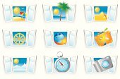 Window,Sea,Sun,Open,Suitcase,Symbol,Travel,Sign,Beach,Icon Set,Summer,Leisure Activity,Computer Icon,Palm Tree,Climate,Wheel,Nautical Vessel,Design,Relaxation,Sky,Vector,Cruise,Ilustration,Earth,Tropical Climate,Compass,Pattern,Umbrella,Travel Locations,Illustrations And Vector Art,Vector Icons,Camera - Photographic Equipment