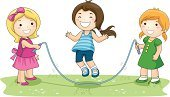Child,Playground,Jumping,Rope,Park - Man Made Space,Jump Rope,Playing,Little Girls,Friendship,Ilustration,Vector,Clip Art,Series,Grass,Babies And Children,Lifestyle,Vector Cartoons,Cut Out,Group Of People,Isolated,Illustrations And Vector Art