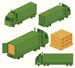 Truck,Freight Transportation,Isometric,Symbol,Semi-Truck,Pick-up Truck,Container,Cargo Container,Computer Icon,Vehicle Trailer,Transportation,Icon Set,Car,Crate,Vector,Packaging,Delivering,Mode of Transport,Set,Land Vehicle,Industry,Green Color,Interface Icons,Collection,Travel,Group of Objects,Heavy Industry,Objects/Equipment,Industrial Objects/Equipment,Transportation,Industry