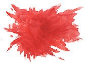 Watercolor Painting,Arts And Entertainment,Arts Backgrounds,Textured Effect,Paper,Textured,Red