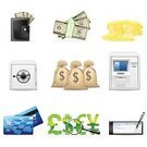 Credit Card,Check - Financial Item,Symbol,Currency,Finance,Computer Icon,Stack,Banking,Coin,Icon Set,Safe,Wealth,Business,Set,Isolated,Paper Currency,Pound Symbol,Treasure,Sign,Dollar Sign,Euro Symbol,Vector,Gold Colored,Dollar,Remote,Ilustration,White,Business Symbols/Metaphors,Vector Icons,Business,Security System,Illustrations And Vector Art