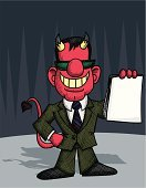 Devil,Contract,Suit,Spooky,Sunglasses,Holidays And Celebrations,Power,Concepts And Ideas,Halloween,Cross Hatching,Horned,Demon,Smiling,Tail,Tie
