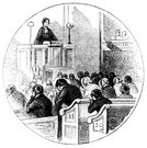 Pulpit,Church,Image Created 19th Century,19th Century Style,Engraved Image,Priest,Preacher,Religion,Ilustration,Congregation,People,Inside Of,Sitting,Circle,Methodist,Drawing - Art Product,History,Christianity,Clergy,Old-fashioned,Social History,Monochrome,Antique,Emotion,Old,Indoors,Pew,The Past,Image Created 1870-1879,Black And White,Ephemera,Praying,Minister,Sunday,English Culture,UK,Cultures,Line Art,British Culture,Communication,Chapel