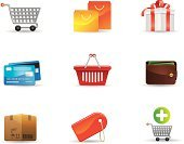 Credit Card,Basket,Wallet,Shopping Cart,Symbol,Vector,Shopping,Computer Icon,Gift,Bag,Interface Icons,Buying,Set,Ilustration,Isolated,Box - Container,Design Element,Paper Currency,Label,Vector Icons,Design,Illustrations And Vector Art