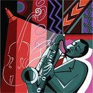 Jazz,Saxophone,Saxophonist,Afro,Music,Musical Instrument,Playing,Vector,African Descent,Color Image,Drawing - Activity,African Music,Illustrations And Vector Art,Music,Drawing - Art Product,Arts And Entertainment,Pencil Drawing,Tube,Ilustration,Sound