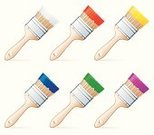 Paintbrush,Brushing,Paint,Clip Art,Vector,Work Tool,White,Red,Design,Wood - Material,Blue,Design Element,Yellow,Wet,Art,Shiny,Color Image,Liquid,Image,Equipment,Arts And Entertainment,Objects/Equipment,Metal,Illustrations And Vector Art,Purple,Single Object,Arts Symbols,Handle,Ilustration,Magenta,Green Color