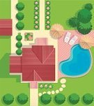 Landscape,Blueprint,Planning,Vegetable Garden,Tree,Architecture,Design,House,Front or Back Yard,Villa,Vector,Roof Tile,Sidewalk,Roof,Suburb,Flower,Village,Garage,Backgrounds,Green Color,Ilustration,Road,Lawn,Grass,Building Exterior,Domestic Life,Architecture And Buildings,Illustrations And Vector Art,Homes,Outdoors,Residential District,Cottage,Architecture Backgrounds,Rural Scene,Summer,Front Stoop,Nature