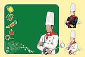 Menu,Chef,Chef's Hat,Restaurant,Asian Ethnicity,Hotel,Blackboard,Dinner Party,Organic,African Ethnicity,Teaching,Announcement Message,Showing,Illustrations And Vector Art,Vector Backgrounds,Spatula,Vegetable,Carrot,Caucasian Ethnicity,Male,Bell Pepper,Dinner,Food And Drink,People,Invitation,Pepper - Vegetable,Fruits And Vegetables,Presentation,Gourmet,Awards Ceremony