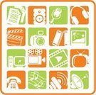 Video,Symbol,Book,Computer Icon,Photography,Computer,Music,Movie,Telephone,Camera - Photographic Equipment,Photograph,Television Set,The Media,Sound,Sign,Film,Multimedia,Internet,Vector,Voice,Document,Speaker,Modern,Web Page,Projection Equipment,Camera Film,Design,Headphones,Musical Note,Communication,Design Element,Interface Icons,Fax Machine,Singing,MP3 Player,Literature,Communications Tower,Ilustration,Microphone,Global Communications,Connection,Vector Icons,Illustrations And Vector Art,Single Object,Antenna - Aerial