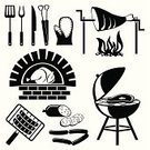 Barbecue Grill,Barbecue,Work Tool,Symbol,Silhouette,Computer Icon,Domestic Kitchen,Icon Set,Fork,Vector,Food,Sign,Spatula,Picnic,Steak,Skewer,Chicken,Meat,Cooking,Coal,Kebab,Sausage,Set,Flame,Fire - Natural Phenomenon,Kitchen Knife,Black Color,Food State,Preparation,Cooking,Illustrations And Vector Art,Meat And Alternatives,Vector Icons,Food And Drink