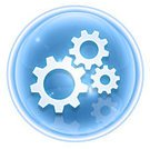 Gear,Symbol,Setting,Computer Icon,Equipment,Non-Urban Scene,Work Tool,Ice,Design,Isolated,Interface Icons,Blue,White,Push Button,Single Object,Machine Part,Circle,Reflexion,Turquoise,Shiny,Isolated-Background Objects,Ilustration,Computer Graphic,Elegance,Shadow,Sphere,Isolated Objects,Style,render,Option Key,LED,Reflection,No People,Digitally Generated Image,Isolated On White,Glass - Material