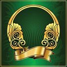 Ribbon,Picture Frame,Circle,Vector,Classical Style,Gold Colored,Classic,Placard,Scroll Shape,Elegance,Retro Revival,Color Image,Swirl,Old-fashioned,Luxury,Shiny,Ornate,Floral Pattern,Pattern,Symbol,Style,Decoration,Design,Computer Graphic,Painted Image,Arts And Entertainment,Vector Cartoons,Illustrations And Vector Art,Arts Abstract,Leaf,Simplicity,Vector Ornaments,Backgrounds