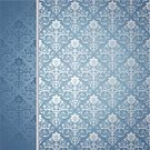 Blue,Frame,Silver Colored,Silk,Backgrounds,Elegance,Retro Revival,Floral Pattern,Scroll Shape,Wallpaper Pattern,Ornate,Abstract,Ilustration,Decoration,Design,Leaf,Vector Backgrounds,Vector Florals,Illustrations And Vector Art,Vector Ornaments,Textured Effect,Placard,Plant,Decor