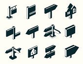 Isometric,Sign,Road Sign,Directional Sign,Real Estate,House,Direction,Computer Icon,Symbol,Icon Set,Billboard Posting,Wooden Post,Wood - Material,Arrow Symbol,Vector,Homes,Objects/Equipment,Vector Icons,Interface Icons,Illustrations And Vector Art,Architecture And Buildings
