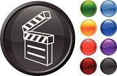 Film Slate,Media Equipment,Computer Icon,Symbol,Film Industry,Computer Graphic,Red,Ilustration,Design,Purple,White Background,Vector,Black Color,Digitally Generated Image,Equipment,Empty,Shiny,Green Color,Blue,Orange Color
