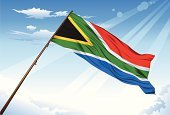 South African Flag,South Africa,Flag,Diminishing Perspective,Waving,Rippled,Black Color,Blue,Symbol,Flag Blowing,Nature,Green Color,waving flag,Design,Yellow,Flying Flag,Business,Travel Locations,Vector,Ilustration,White,Blowing,Red
