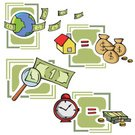 Currency,Tax,Cash Flow,Time,Savings,House,Stack,Financial Advisor,Coin,Loan,Earth,Gold Colored,Dollar Sign,Planet - Space,Challenge,Finance,Magnifying Glass,Gold,Vector,Time is Money,Glass - Material,Banking,Business,Sign,Wealth,Clip Art,Scientific Experiment,Bag,Investment,Ilustration,Buying,Business Concepts,Business,Clock,Illustrations And Vector Art