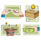 Donation Box,Currency,Charity and Relief Work,Giving,Coin,Time,Tax,Wealth,Savings,Gold Colored,Sign,Vector,Gold,Business,Stack,Investment,Buying,Ilustration,Financial Advisor,Clip Art,Business,Finance,Banking,Illustrations And Vector Art,Business Concepts,Dollar Sign