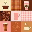 Coffee - Drink,Coffee Cup,Cafe,Cup,Coffee Bean,Pattern,Plaid,Seamless,Pink Color,Backgrounds,Mug,Espresso,Latte,Brown,Food,Steam,Vector,Cream,Cappuccino,Pastel Colored,Drink,Design Element,Heat - Temperature,Food And Drink,Dark,Vector Backgrounds,Drinks,Illustrations And Vector Art