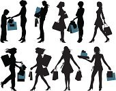 Shopping,Silhouette,Women,Teenage Girls,People,Fashion,Female,Bag,Fashion Model,Sale,Vector,Child,Shopping Bag,Elegance,Shopaholic,Glamour,Buy,Buying,Ilustration,Lifestyles,Beautiful,Shoulder Bag,Unrecognizable Person,Young Women,Characters,Mid Adult Women,Number of People,People,Illustrations And Vector Art