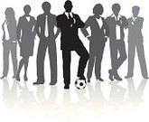 Sports Team,Soccer,Business,Soccer Ball,Team,Silhouette,Teamwork,Businessman,Group Of People,Togetherness,Businesswoman,Expertise,Ball,People,Vector,Leadership,Outline,Computer Graphic,Illustrations And Vector Art,White Collar Worker,Sports And Fitness,Business,Business Teams,Reflection,Team Sports,Ilustration,Unity