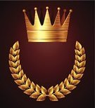 Crown,Gold,Gold Colored,Award Plaque,Laurel Wreath,Plate,Bling Bling,Nobility,Memorial Plaque,Wreath,Three-dimensional Shape,Metal,Symbol,Honor,Bronze,Award,Bronze,Insignia,Sign,Leaf,Brushed,Computer Icon,Success,Shiny,First Place,Placard,Dirty,Label,Stability,Grunge,Royal Person,Achievement,Vector,Branch,Metallic,Strength,Scratched,Solid,Wealth,Decoration,Yellow,Front View,Brushed Metal,Alloy,eps8,Abundance,Reflection,Ilustration,Copy Space,No People,Distressed,Isolated,Ornate