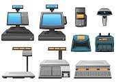 Cash Register,Cashier,Bar Code Reader,Credit Card Reader,Weight Scale,Electrical Equipment,Computer,Box - Container,Cash Box,ATM,Retail,Computer Monitor,Retail Display,Weight,Icon Set,Finance,Sale,Selling,Vector,Instrument of Measurement,Shopping,Buying,E-commerce,Currency,Business,Set,Illustrations And Vector Art,Equipment,Design,Electronics,Technology,Isolated Objects,Ilustration,Vector Icons,Isolated-Background Objects