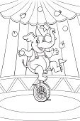 Coloring Book,Circus,Animal,Black And White,Elephant,Juggling,White,Black Color,Cartoon,Carnival,Ilustration,Bicycle,Tent,Party - Social Event,Traveling Carnival,Cycle,Entertainment Tent,Cycling,Catwalk - Stage,Apple - Fruit,Marquee Tent,Holiday,Event,Animal Tricks,Flag,Cup,Fun,Arts And Entertainment,Playful,Colors,Hat,Magic Trick,Cheerful,Performing Arts Event,Holidays And Celebrations,Animals In The Wild,Wild Animals,Balance,Tame,Performer,Smiling,Animals And Pets,Pear