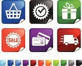 Delivering,Sale,Delivery Van,Sign,Speed,Computer Icon,Urgency,Business,Icon Set,Elegance,Label,Overnight Delivery,Customer,Vector,Shopping Basket,Credit Card,Gift Box,Red,Blue,Consumerism,For Sale,Black Color,Shiny,Square,Green Color,Design,Rushes - Plant,Ilustration,Page Curl,Folded,Square Shape