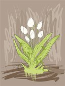 Tulip,Beauty In Nature,Flower,Single Flower,Painting,White,Ilustration,Nature,Flowers,Green Color,Vector,Sketch,Plant,Illustrations And Vector Art,Plants,Vector Florals,Drawing - Art Product,Springtime,Botany,Summer,Brown