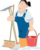 Cleaning,Cleaner,House,Maid,Office Interior,Clean,Women,Mop,Sweeping,Flooring,Vector,Domestic Life,Image,Assistance,Broom,Neat,Symbol,Occupation,Job - Religious Figure,Service Occupation,Drop,Water,Cleaning Service,Stained,Illustrations And Vector Art,People,Female,Ilustration