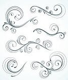 Swirl,Single Line,Growth,Curve,Ornate,Flower,Vector,Computer Graphic,Art,Design,Beauty,Scroll Shape,Spiral,Design Element,Abstract,Retro Revival,Leaf,Beautiful,Elegance,Set,Ilustration,Silhouette,Plant,Scroll,Petal,Stem,Style,Part Of,Funky,Luxury,Shape,Nature,Illustrations And Vector Art,Collection,Arts And Entertainment,foliate
