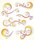 Flower,Curve,swirly,Computer Graphic,Orange Color,Abstract,Design,Swirl,flourishes,Design Element,Vector,filigree,Vibrant Color,Art,Color Image,Ornate,Shape,Decoration,Yellow,Leaf,Plant,Ilustration,Elegance,Beautiful,Funky,Set,Style,Collection,Concepts And Ideas,foliate,Part Of,Branch,Luxury,Beauty,Arts And Entertainment,Holidays And Celebrations