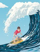 Surfing,Wave,Water,Cool,Sport,Ilustration,Extreme Sports,Sports And Fitness,Sea,Fun,Illustrations And Vector Art