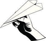 Paper Airplane,Human Hand,Throwing,Paper,Tossing,Folded,Aerodynamic,People,Vector Cartoons,Actions,Thumb,Vector,Ilustration,Illustrations And Vector Art