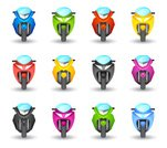 Motorcycle,Front View,Motorcycle Racing,Symbol,Ilustration,Sports Race,Motorsport,Vector,Traffic,Green Color,Set,Sign,Vector Icons,Color Gradient,Colors,Religious Icon,Multi Colored,Pink Color,Isolated On White,Blue,White Background,Modern,Single Object,Transportation,Isolated,Yellow,Transportation,Color Image,Illustrations And Vector Art,Black Color,rosy,Red,Orange Color
