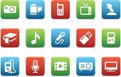 Symbol,Computer Icon,Icon Set,Book,Camera - Photographic Equipment,Radio,Technology,Music,Television Set,Film,Interface Icons,USB Cable,Mobile Phone,Communication,Connect,Microphone,Simplicity,Sound,Audio Equipment,MP3 Player,Electrical Equipment,Red,USB Flash Drive,Green Color,Collection,Multimedia,Ilustration,Projection Equipment,Headphones,Clip Art,Camera Film,Orthographic Symbol,Video Game,Blue,White Background,Vector,Joystick,Computer Graphic,Handheld Video Game,Audio Electronics,Wide Screen,Musical Note,Art Product,Design Element