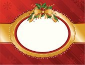 Christmas,Frame,Victorian Style,Label,Holly,Backgrounds,Ellipse,Holiday,Banner,Greeting Card,Ribbon,Scrapbook,Snowflake,Gift,Vector,Gold Colored,Old-fashioned,Bow,Bow,Ornate,Pattern,Elegance,Red,Mistletoe,Horizontal,Copy Space,Ilustration,No People,Blank,Holidays And Celebrations,Holiday Backgrounds,Empty,Christmas,Vector Backgrounds,Illustrations And Vector Art,Striped,Shiny,Wrapping Paper