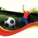 Soccer,Soccer Ball,Spain,Stadium,Sport,Backgrounds,Soccer Player,Ball,Vector,Design,Grass,Red,Grunge,Competition,Ilustration,Men,Fun,Green Color,Spray,Vibrant Color,Design Element,Flowing,Leisure Games,Football Field,Yellow,Splattered,Color Image,Spraying,Team Sport,Wave Pattern,One Person,Digitally Generated Image,Colors,soccer ground,Lush Foliage